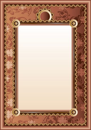 vintage document: vector image of frame diploma or certificate
