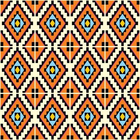 geométrico: Fundo sem emenda do vetor com padrões geométricos mexicanos