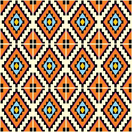 vector seamless  background with Mexican geometric patterns