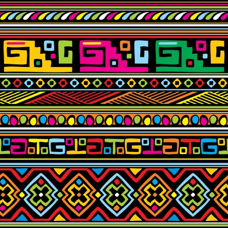 seamless vector background with african ornament Illustration