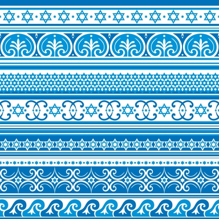 seamless  background with israel ornament