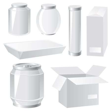 set of vector images of  packing containers Vector