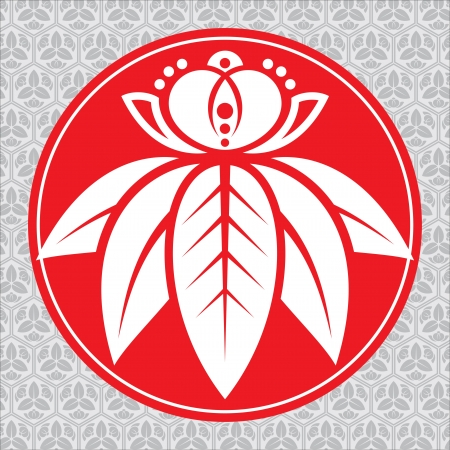 vector traditional symbol of the japanese lotus Vector