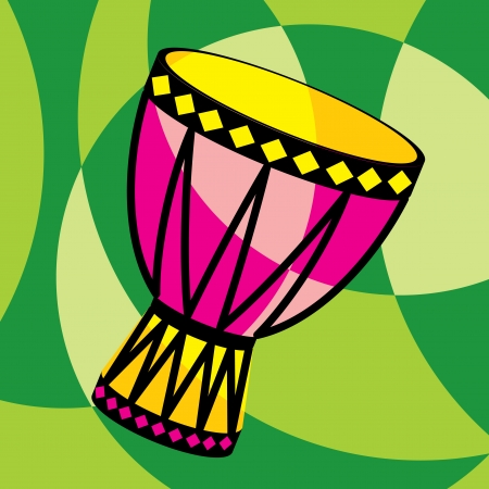 drum: vector image of african drum Illustration