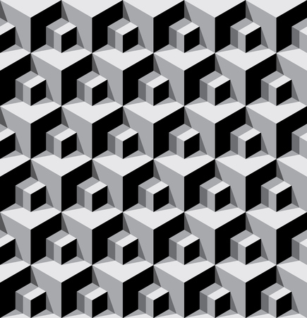 bossy: vector seamless background with dimensional cubes