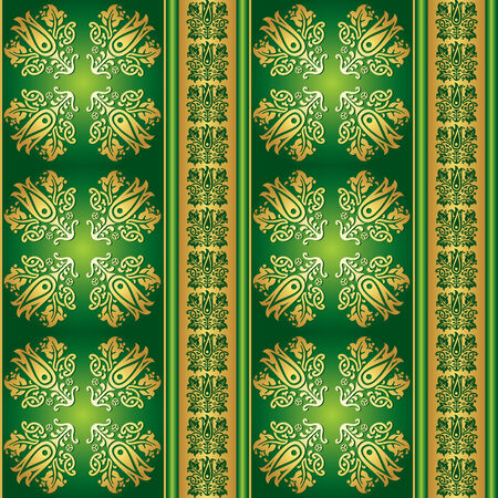 green seamless walpaper Vector