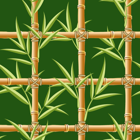 bush mesh: vector seamless image with bamboo pattern Illustration