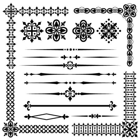 gothic design: vector images of vintage design element