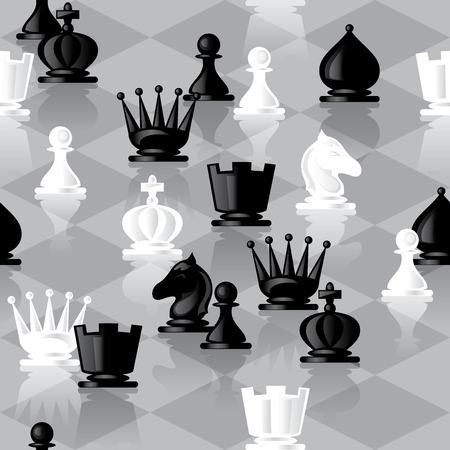 caballo de ajedrez: vector de fondo transparente con piezas de ajedrez