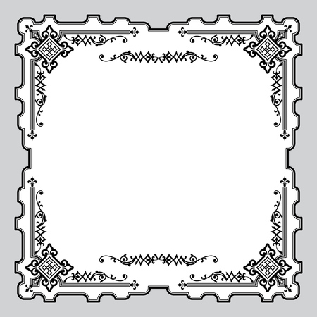 gothic revival style: image with classic vintage  ornament frame Illustration