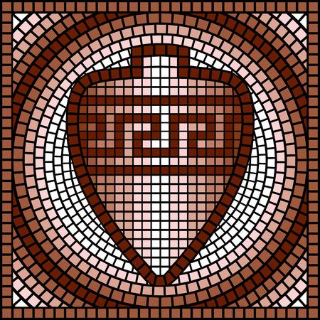 vasi greci: immagine vettoriale con il classico mosaico greco