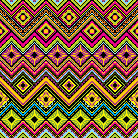 seamless  background with Mexican zigzag  geometric patterns  Vector