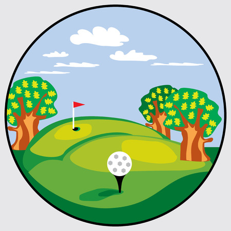 round emblem for golf course Vector