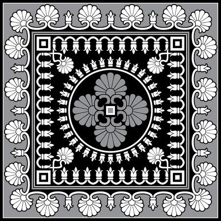 ancient civilization: classic antique floral vector ornament