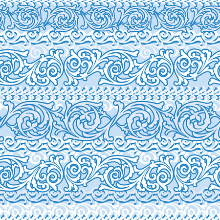 traditional background: vector seamless background with frosty winter ornament