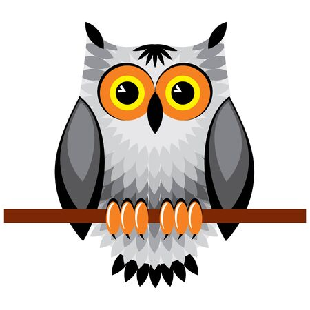 vector image of owl Ilustrace