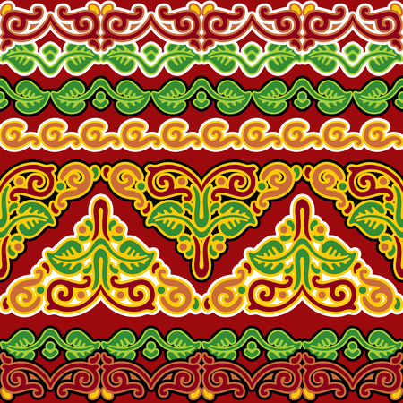vector seamless ornament with Slavic pattern