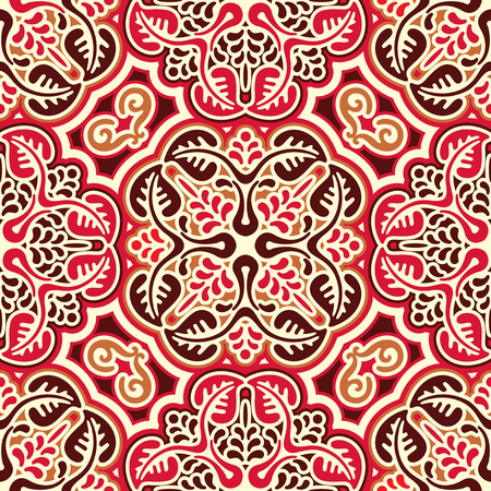 vector seamless pattern with Slavic ornament