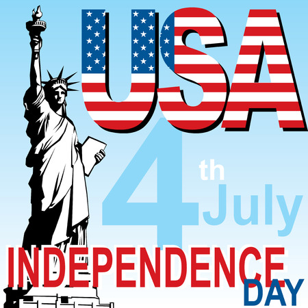 vector image banner for independence day USA Illustration