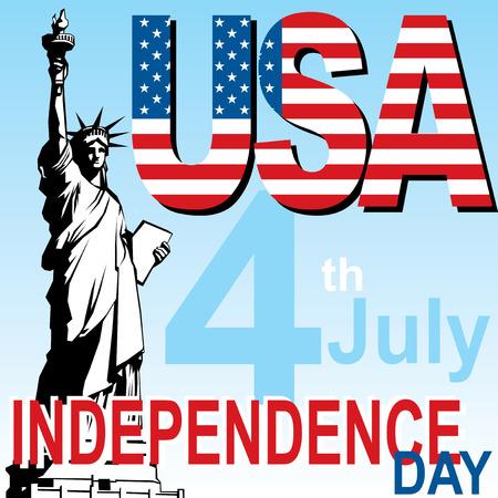 vector image banner for independence day USA Ilustração