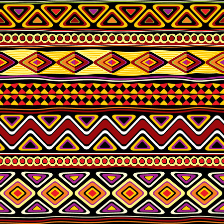 vector seamless pattern with african ornament Stock Illustratie