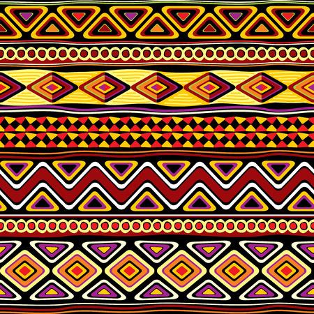 cuadrados: vector sin patrón con el ornamento africano