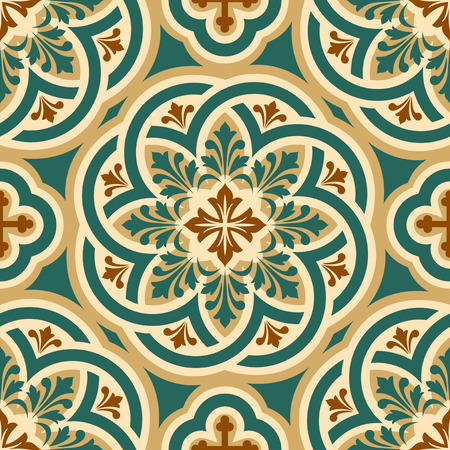 vector seamless pattern with Byzantine ornament