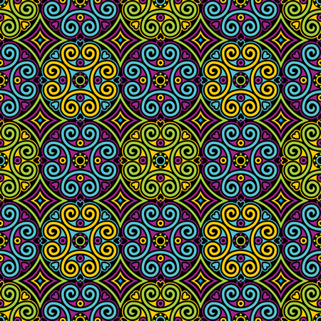vector seamless pattern with Asian geometric ornament Ilustrace