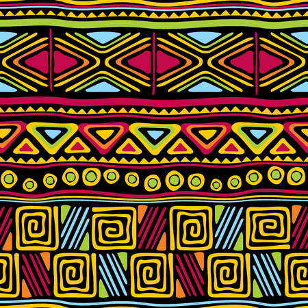 vector seamless pattern with african ornament 일러스트