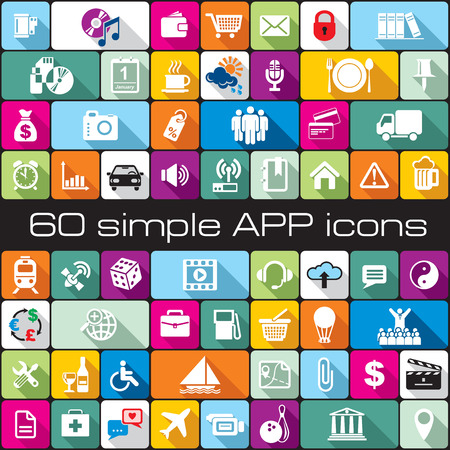 set vector simple icons for APP design