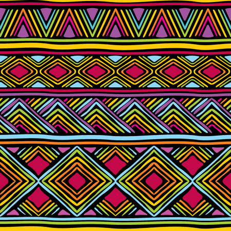 ethiopia abstract: vector seamless pattern with african geometric ornament Illustration