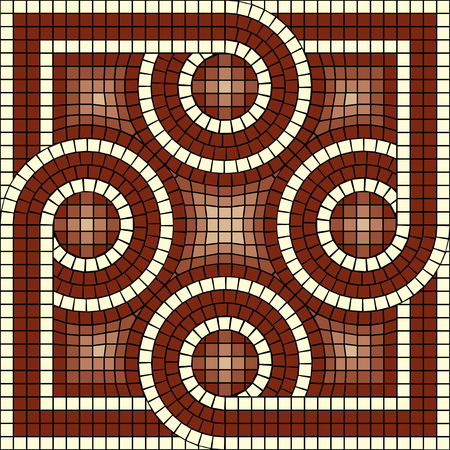 architectural styles: vector mosaic with classic antic ornament
