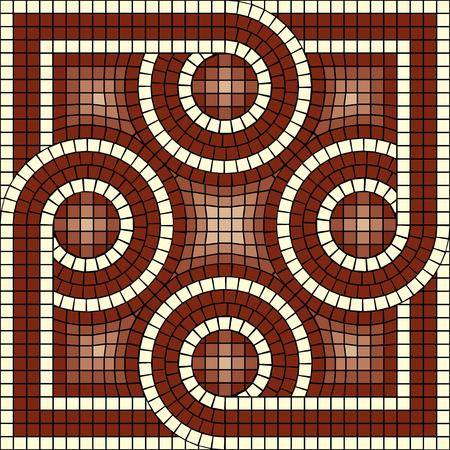 ceramic tiles: vector mosaic with classic antic ornament