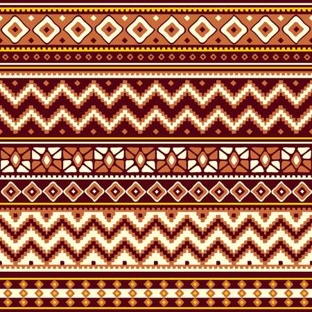 old square: vector seamless pattern with folk geometric ornament Illustration