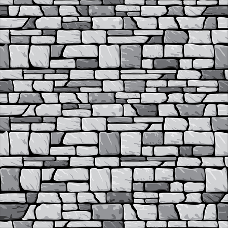 vector seamless pattern  with image of grey stone brickwork