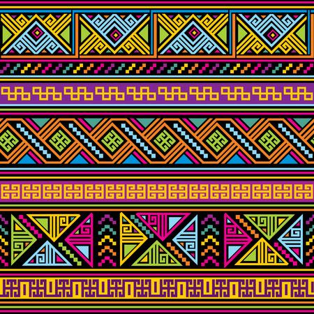 伝統: メキシコのパターンを持つベクトルのシームレス背景  イラスト・ベクター素材