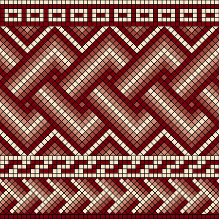 meander: vector seamless mosaic with classic Greek meander ornament Illustration