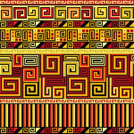peruvian: vector seamless background with Peruvian ornament