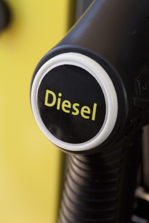 energize: Detail of a petrol pump, Diesel