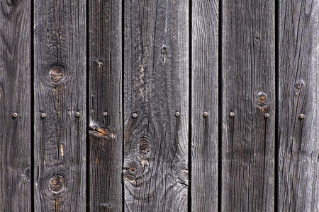 screws: Weathered wood with screws Stock Photo