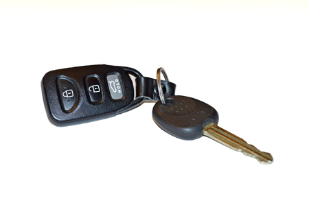Keys and Key FOB on isolated white background