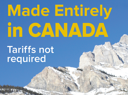Vector graphic promoting tourism in Canada. Keeping it relevant with the trade talks and tariffs slogan