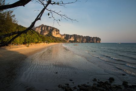 chiefly: Ao Nang is a central point of the coastal province of Krabi, Thailand. The town consists chiefly of a main street, which is dominated by restaurants, pubs, shops and other commerce aimed at tourists. The main beach is used by sunbathers to a certain exten