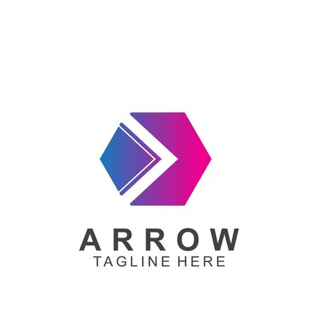 Abstract arrow design with creative design. Icon arrow vector illustration