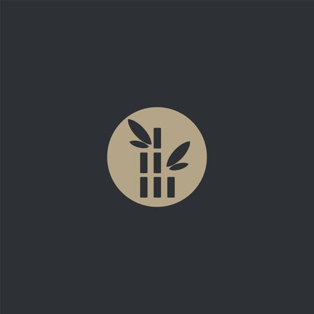 Premium bamboo design. Abstract bamboo icon vector illustration