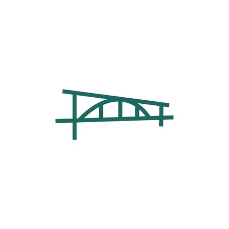 Bridge design with premium concept. Abstract bridge icon vector illustration