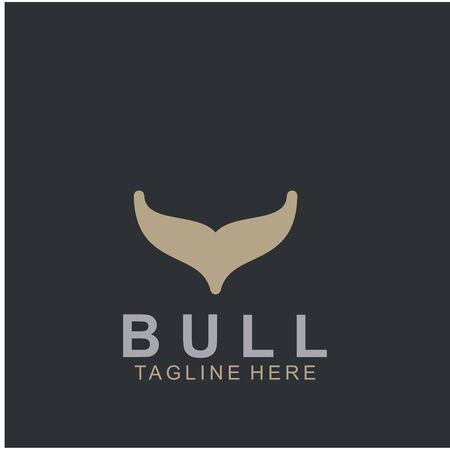 Premium bull design. Abstract icon bull and cow design