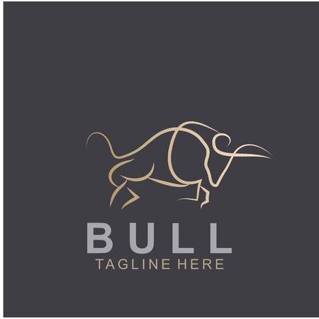 Premium bull logo design. Abstract icon bull and cow design