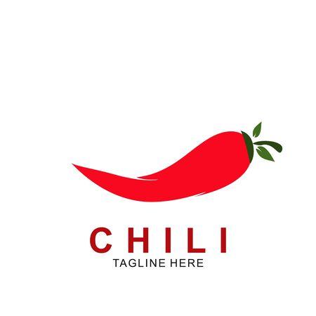 Chili logo design with modern concept. Vector icon chili. Hot design illustration