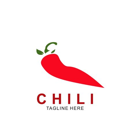 Chili logo design with modern concept. Vector icon chili. Hot design illustration